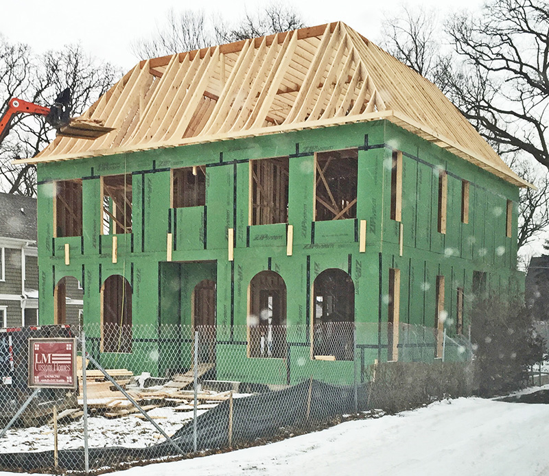 321 Forest Zip System wall sheathing